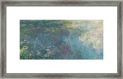 The Waterlilies  The Clouds Framed Print by Claude Monet