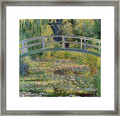 The Waterlily Pond With The Japanese Bridge Framed Print by Claude Monet