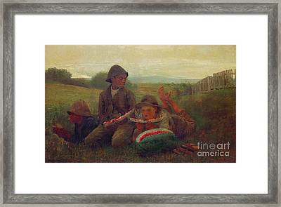 The Watermelon Boys Framed Print by MotionAge Designs