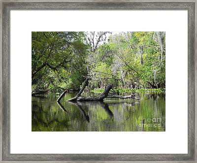 The Watery Road Block Framed Print by Jack Norton