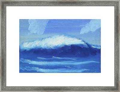 The Wave Framed Print by Artists With Autism Inc