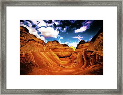 Framed Print featuring the photograph The Wave Arizona Light by Norman Hall