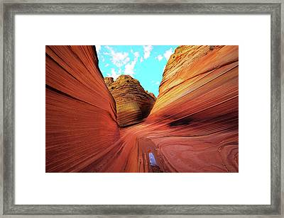 Framed Print featuring the photograph The Wave Arizona by Norman Hall