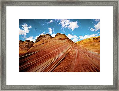 Framed Print featuring the photograph The Wave Arizona Rocks by Norman Hall