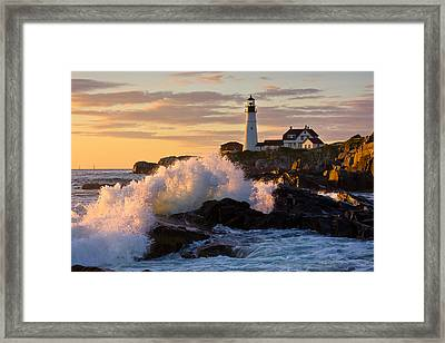 The Wave Framed Print by Benjamin Williamson