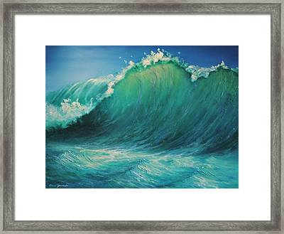The Wave By Alan Zawacki Framed Print