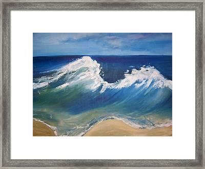 The Wave Framed Print by Georgeanne Wayman