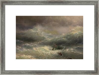 The Wave Framed Print by Ivan Aivazovsky