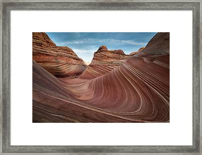 The Wave Framed Print by James Udall