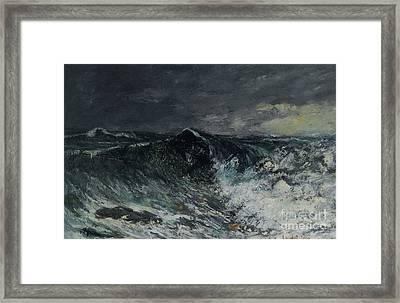 The Wave La Vague  Framed Print