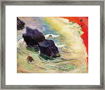 The Wave Framed Print by Paul Gauguin