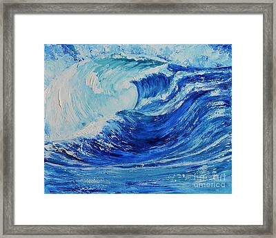 The Wave Framed Print by Teresa Wegrzyn