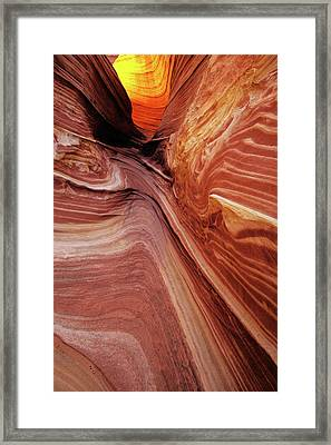 Framed Print featuring the photograph The Wave Trail by Norman Hall