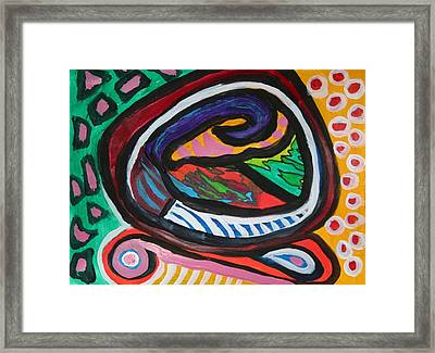 The Wave Framed Print by Victoria Hasenauer