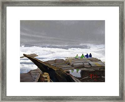 The Wave Watchers Framed Print
