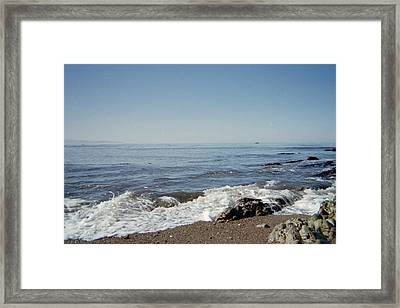 The Waves Of Undeconstruction Framed Print by Susanne Awbrey