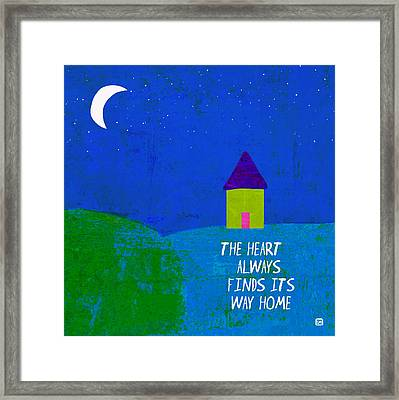 Framed Print featuring the painting The Way Home by Lisa Weedn
