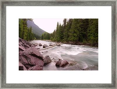 The Way Of A River Framed Print by Jeff Swan
