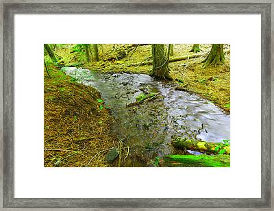 The Way Of Meltwater Framed Print by Jeff Swan