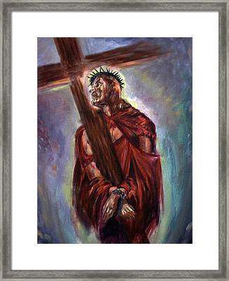 The Way Of The Cross Framed Print by Tommy  Winn
