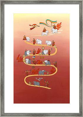 The Way Of The White Elephant The Way To Meditation Framed Print