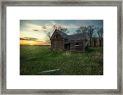 Framed Print featuring the photograph The Way She Goes by Aaron J Groen