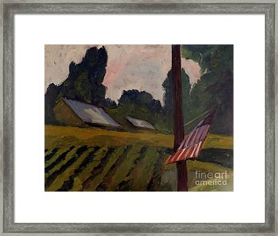 Sold The Way Station Plein Air Framed Framed Print