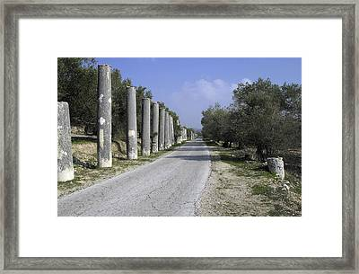 The Way To Sebastia Framed Print by Isam Awad