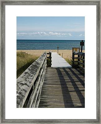 Framed Print featuring the photograph The Way To The Beach by Tara Lynn