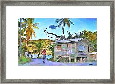 The Way We Were - Flying Kite Framed Print by Wayne Pascall