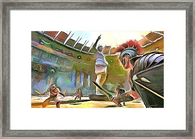 The Way We Were - Gladiators Framed Print by Wayne Pascall