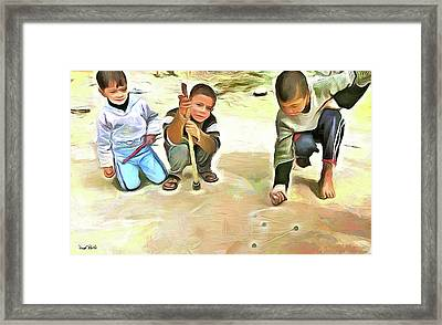 The Way We Were - Pitching Marbles 2 Framed Print by Wayne Pascall