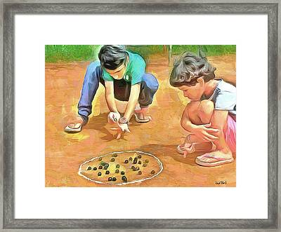 The Way We Were - Pitching Marbles Framed Print by Wayne Pascall
