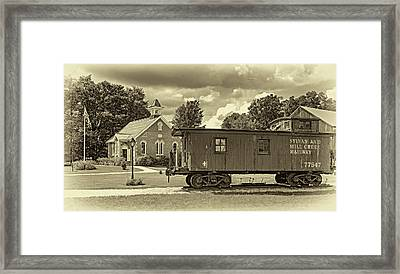 The Way We Were - Sepia Framed Print