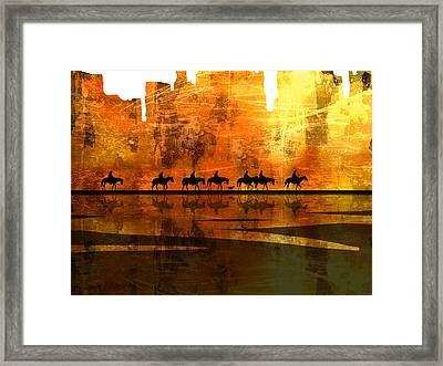 The Weary Journey Framed Print