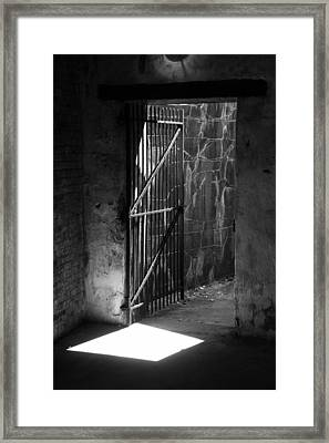 The Weathered Wall Framed Print