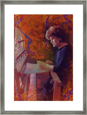 The Weaver Framed Print by Kate Browning Word