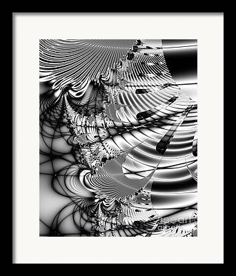 Julia Set Digital Art Framed Prints