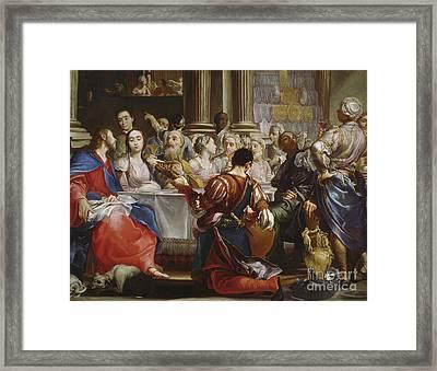 The Wedding At Cana Framed Print by Giuseppe Maria Crespi
