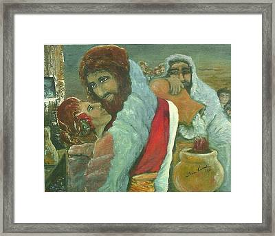 The Wedding Feast Framed Print by Jean Russell