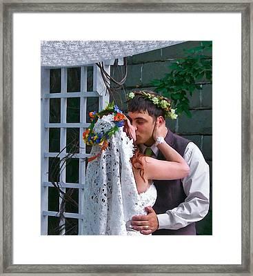 The Wedding Kiss Framed Print