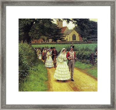 The Wedding March Framed Print by Edmund Blair Leighton