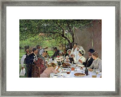 The Wedding Meal At Yport, 1886 Framed Print
