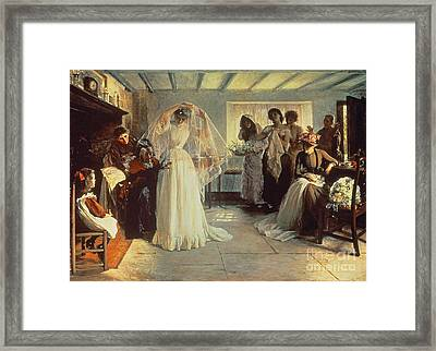 The Wedding Morning Framed Print by John Henry Frederick Bacon
