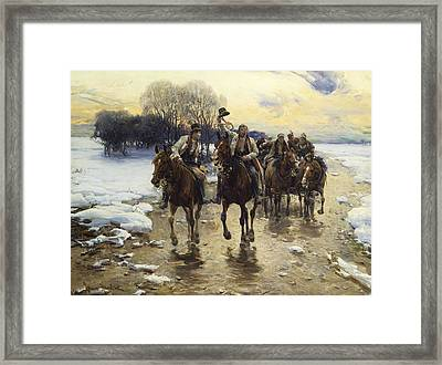 The Wedding Party Framed Print by Alfred Kowalski