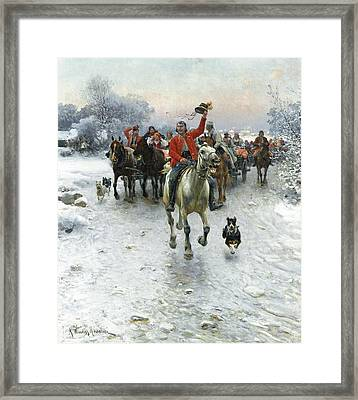 The Wedding Procession Framed Print by Alfred Kowalski