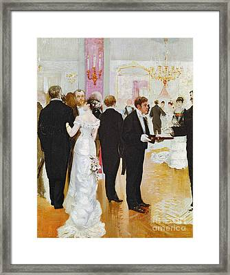 The Wedding Reception Framed Print