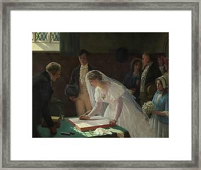 The Wedding Register Framed Print