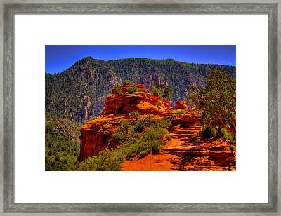 The Wedding Rock In Sedona Framed Print by David Patterson