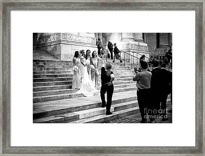The Wedding Shoot Framed Print